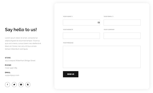 Using a contact form