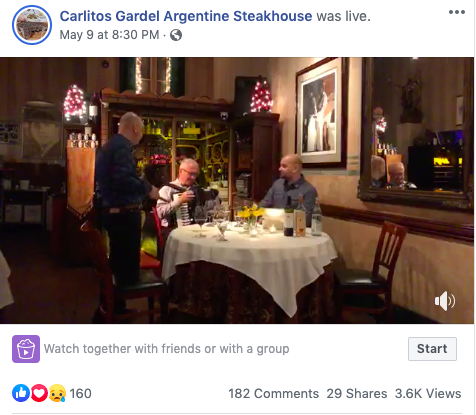 Carlitos Gardel FB Live